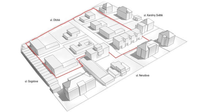 architektonická studie radovy dum rodinny dum situace projekt pozemek nerudova opava linda bittova
