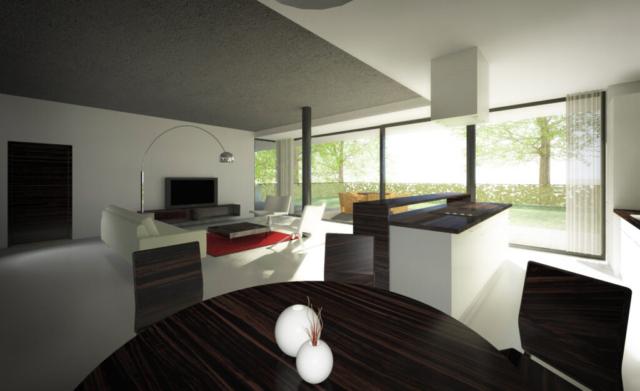 stul zidle kuchyne lampa obyvak terasa dvere rezidence mendlova opava reality linda bittova