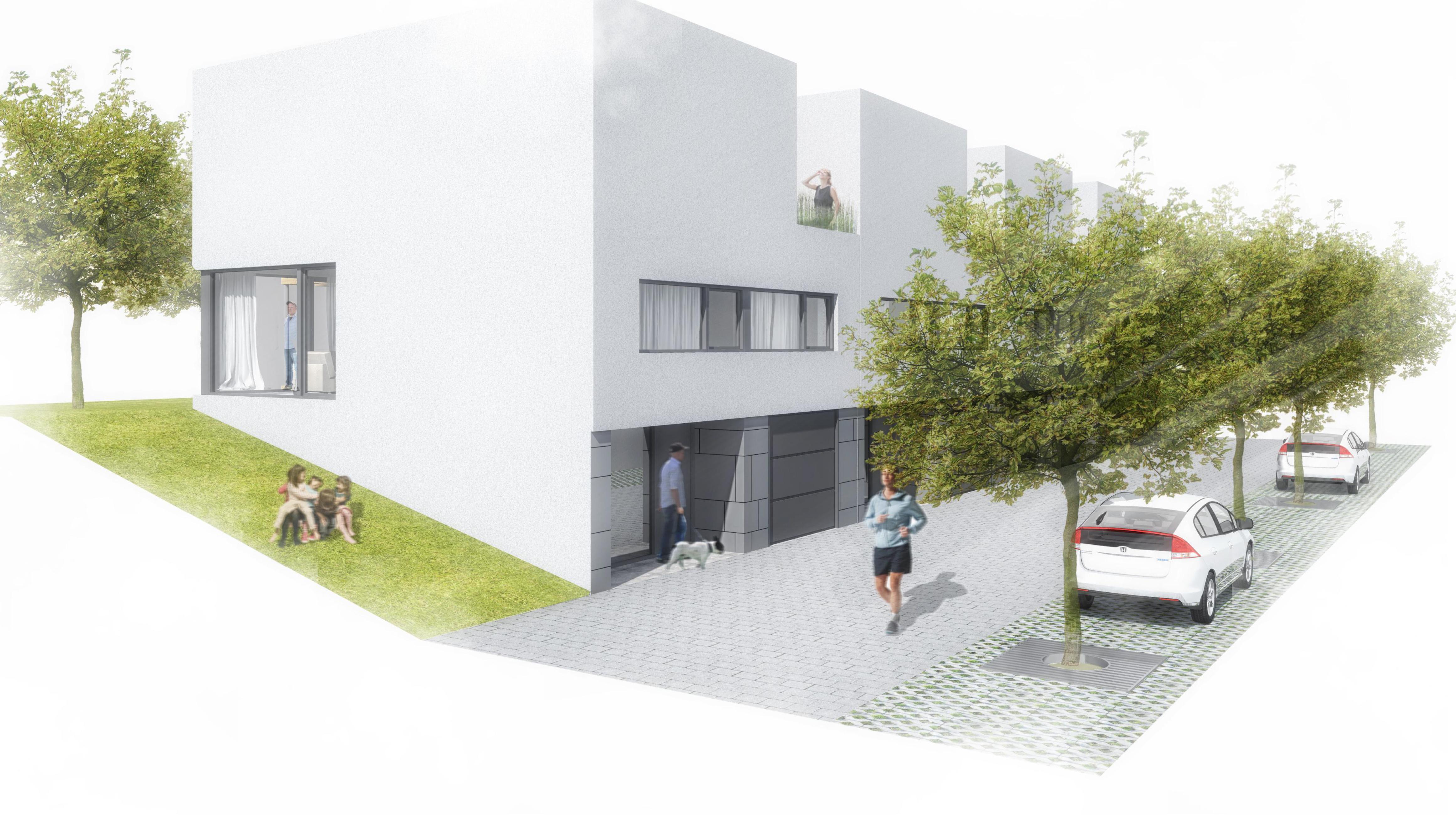 radovy dum strom Graz okna deti auto parkovani beh vyhled reality linda bittova