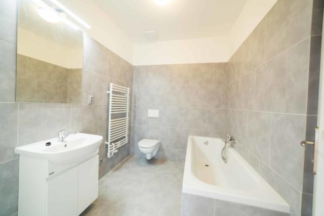 dvere koupelna radiator zrcadlo vana umyvadlo zachod obklad reality linda bittova