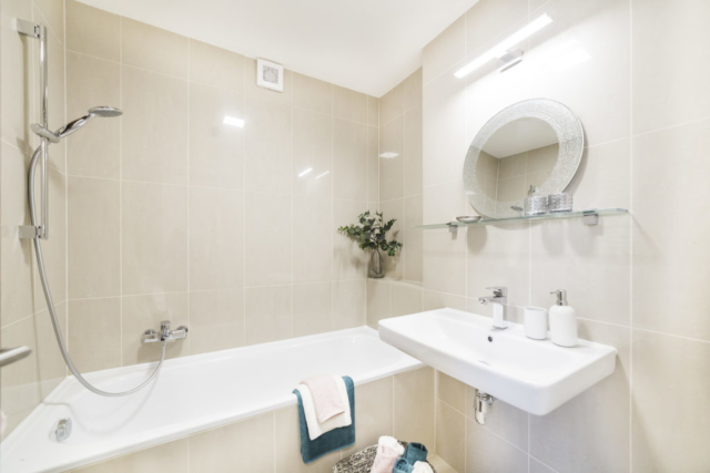 koupelna zrcadlo rucnik umyvadlo vana svetlo sprcha prodej bytu opava linda bittova